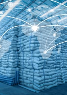 Global network coverage world for Distribution of goods in warehouse process for Logistic Import